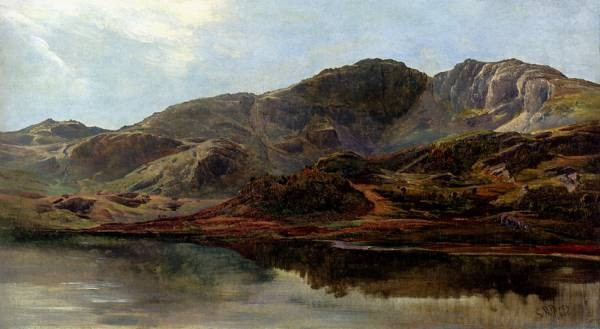 Landscape With A Lake And Mountains Beyond